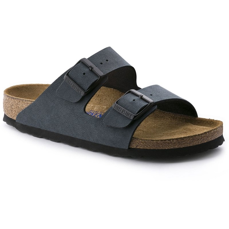 Birkenstock_Arizona BF Nubuck Soft footbed Basalt Narrow