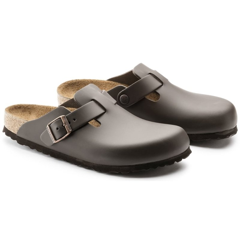 Birkenstock_Boston Leather Dark Brown