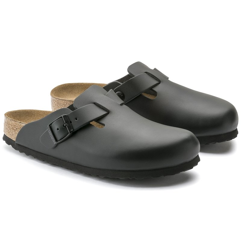Birkenstock_Boston Leather Soft footbed Black