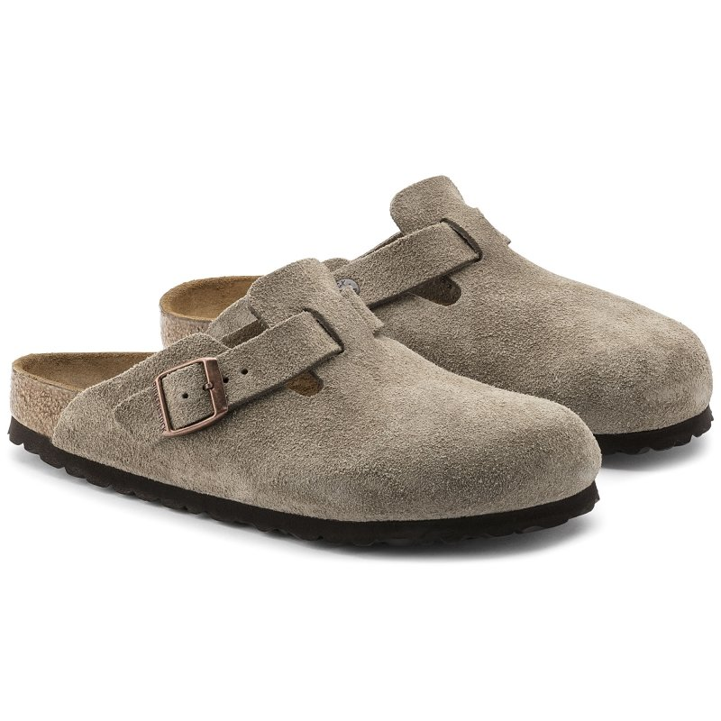 Birkenstock_Boston Suede Leather Taupe