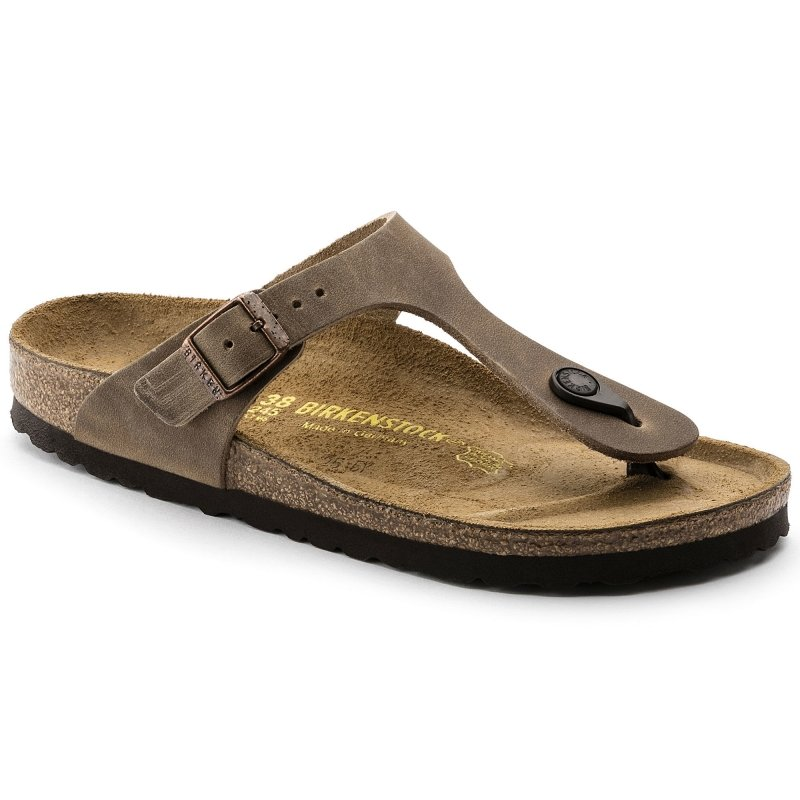 Birkenstock_Gizeh Oiled Leather Tabacco Brown
