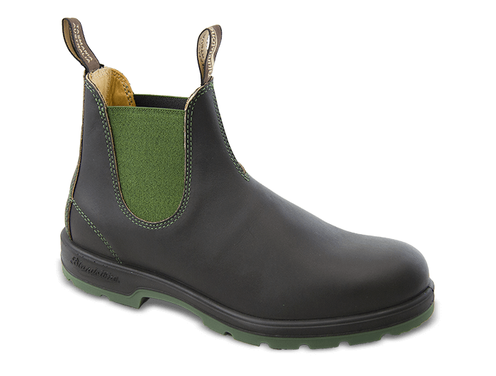 Blundstone 1402 Brown and Olive Leather