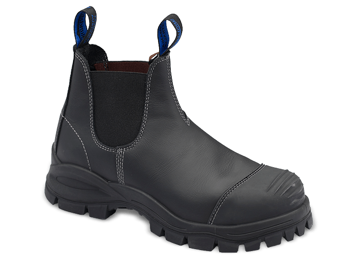 Blundstone 990 Safety Boot Elastic Black Steel toe cap