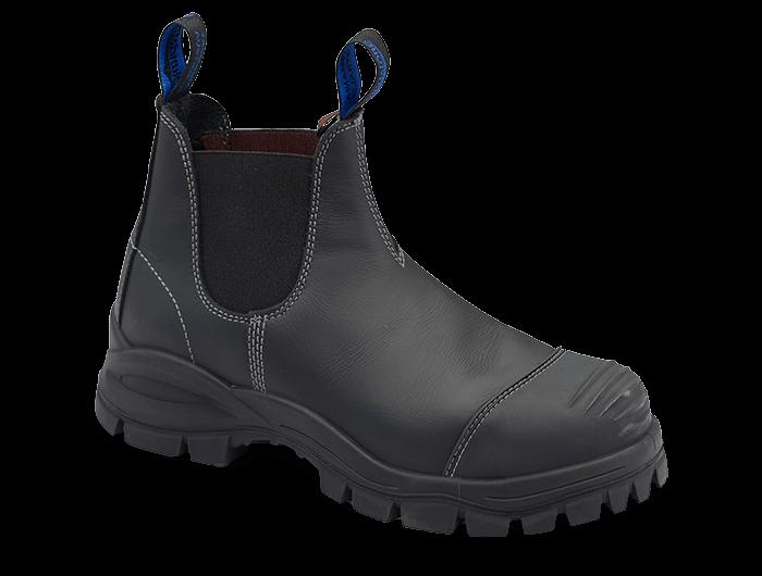Blundstone 990 Safety Boot Elastic Black Steel toe cap
