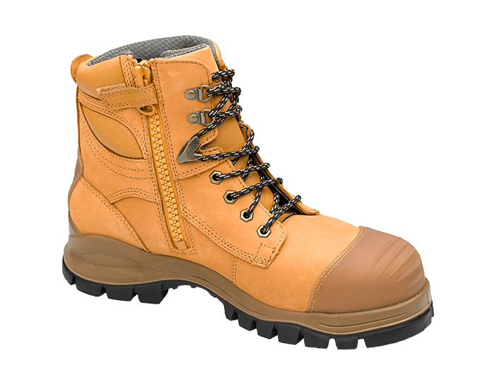 Blundstone 992 Safety Boot Wheat Nubuck Steel toe cap