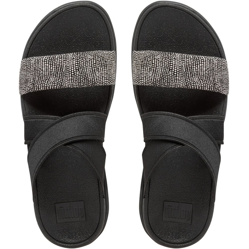 Fitflop_LOOSH GLADIATOR SLIDE SANDALS BLACK PEBBLE1