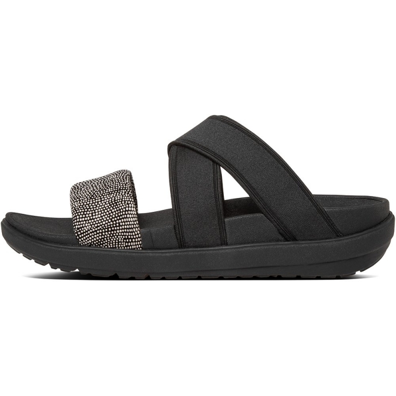 Fitflop_LOOSH GLADIATOR SLIDE SANDALS BLACK PEBBLE2