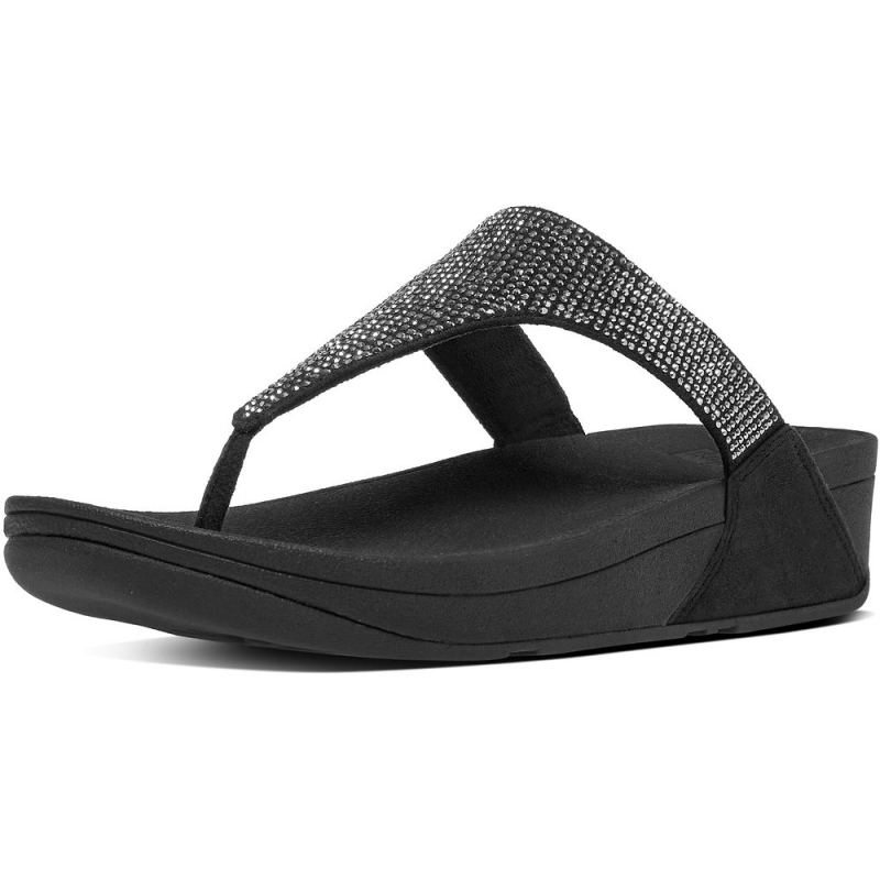 Fitflop_SLINKY ROKKIT TOE-THONG SANDALS BLACK