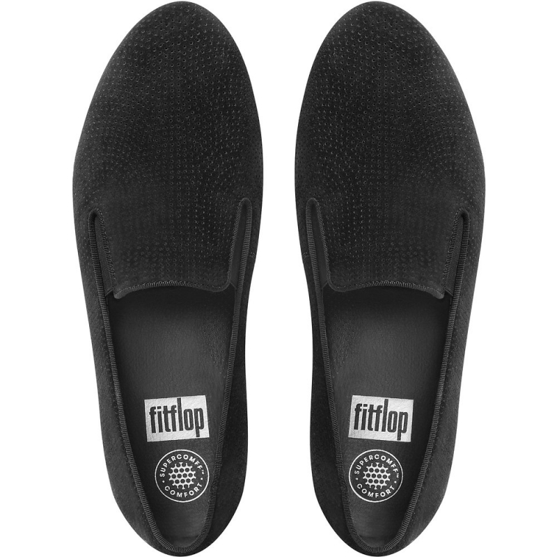 Fitflop_SUPERSKATE PERF SUEDE LOAFERS BLACK2