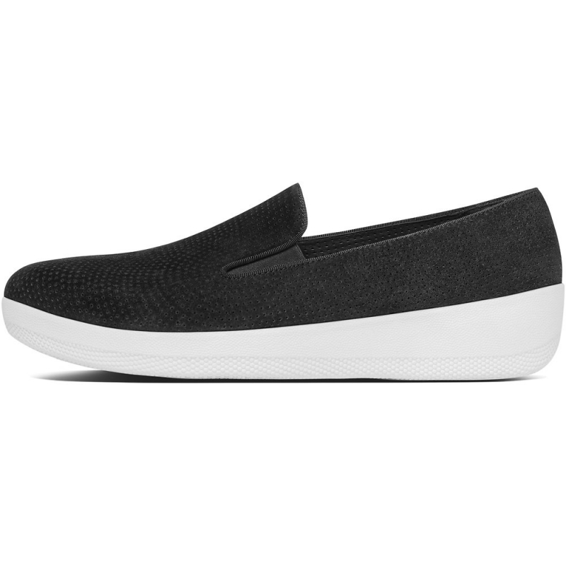 Fitflop_SUPERSKATE PERF SUEDE LOAFERS BLACK3
