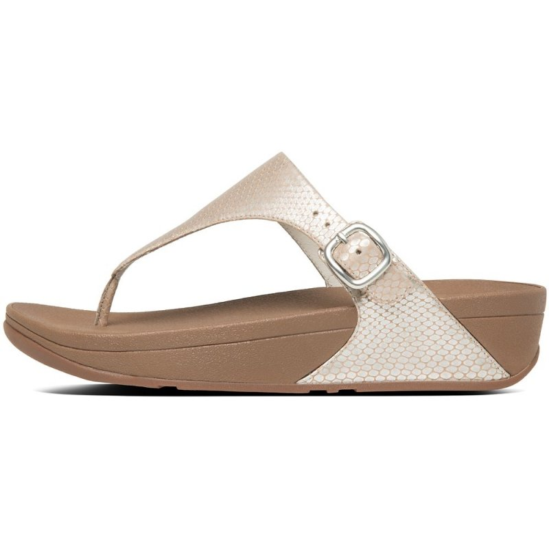 Fitflop_THE SKINNY TOE-THONG SNAKE EMBOSSED SANDALS SILVER SNAKE2